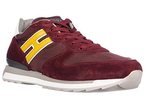 Hogan Rebel Zapatos Zapatillas de Deporte Hombres EN Ante Nuevo r261 Allacciato