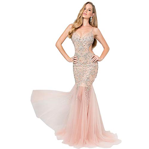 Terani Couture Prom Beaded Evening Dress Pink 12