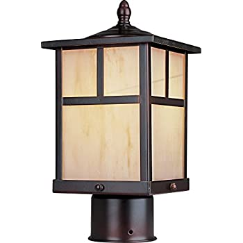 Maxim Lighting 4055HOBU Craftsman Post Mount Light – Outdoor Capable Mount Light with Burnished Finishing. Lamps and Lighting Fixtures