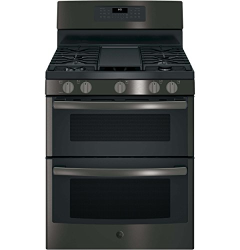 GE JGB860BEJTS 30 Inch Freestanding Gas Range with 5 Sealed Burner Cooktop in Black Stainless ()