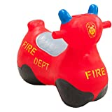 Happy Hopperz Inflatable Fire Bike - Red