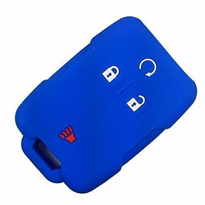 Coolbestda Rubber Key Fob Remote Control Protector Cover Case for 2020 2020 2016 Chevrolet Chevy Silverado Colorado GMC Canyon Sierra Yukon Cadillac M3N32337100 13577770 13577771: Automotive