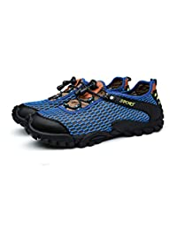 W.H.S Men's Shoes Breathable Hiking Shoes net Shoes Outdoor Leisure Sandals Walking Shoes