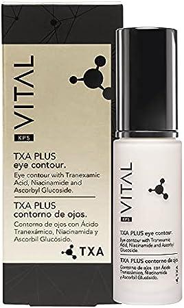 KPS VITAL 【PREMIUM】 TXA PLUS | Crema Contorno de Ojos Antiarrugas Mujer | Anti Ojeras | Anti Arrugas | Corrector | Anti Bolsas | Parpados Caídos, 30 ml