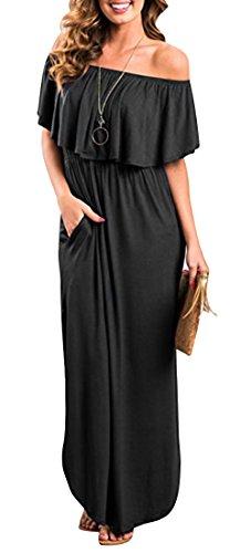 Yidarton Women Summer Blue and White Porcelain Strapless Boho Maxi Long Dress (Large, - Summer White Dress Strapless