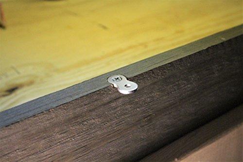 (30-Pack with 3/4'' Screws) Figure 8 Table Top Connector or Desk Top Fastener Clip - Heavy Duty 12 Gauge Steel by Balsam Point Workshop (Image #5)