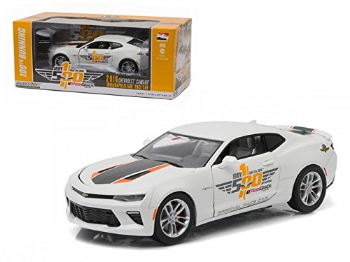 2016 Chevrolet Camaro 50th Anniversary Edition Indy 500 Pace Car 100th Running of the Indianapolis Pace Car Collection 1/24 by Greenlight - Camaro 500 Pace Car Indy