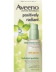 Aveeno Face Moisturizer SPF 30, Positively Radiant Daily Cream for Dark Spots, 75 mL