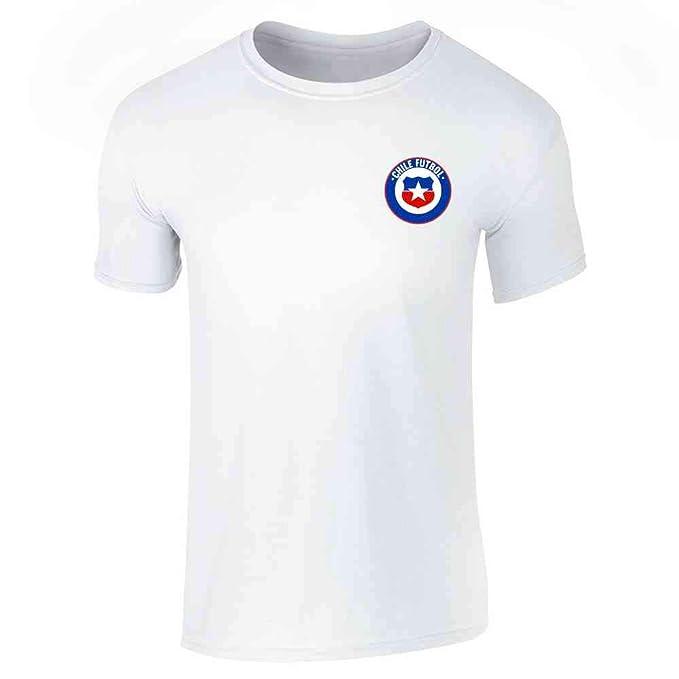 39d2144eed4 Amazon.com  Chile Futbol Soccer Retro National Team Short Sleeve T-Shirt   Clothing