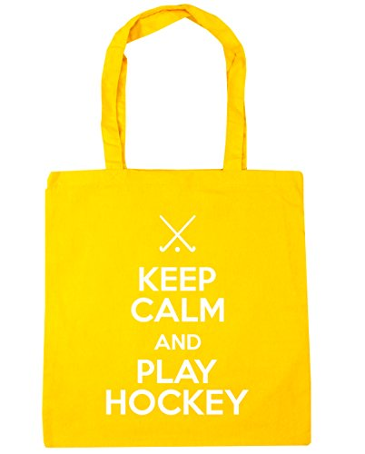 Bag Hockey Shopping Tote 10 Beach 42cm x38cm Calm Play HippoWarehouse litres Yellow Keep and Gym xngIwTf
