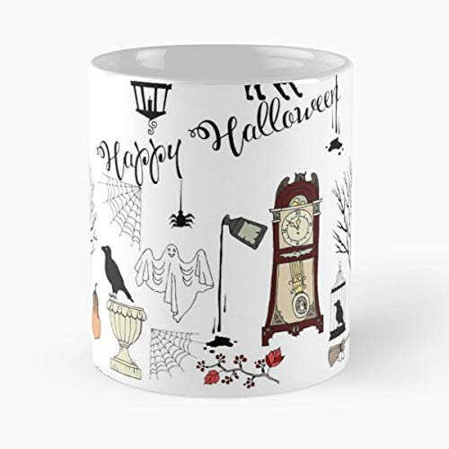 Cats Pumpkin Ghost Castle -funny Present For My Greatest Boss Male Or Female, Men, Women, Great Office Gift Mugs, Birthday, Leaving, Bold, Cup, 11 -