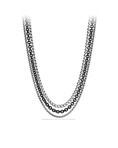 Brand New with Tag,Original Box David Yurman Multi Row Chain Necklace, 18'' Long by David Yurman