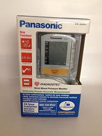 Amazon.com: Panasonic Wrist Blood Pressure Monitor EW 3039 S ...