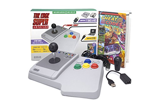 Emio The Edge Super Joystick for SNES Classic & PC, Multicolor (Classic Joystick For Pc)