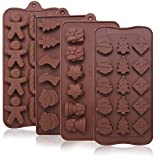 Best Silicone Mold For Candy Chocolates - 4 Pack Christmas Candy Molds Trays, YuCool Silicone Review