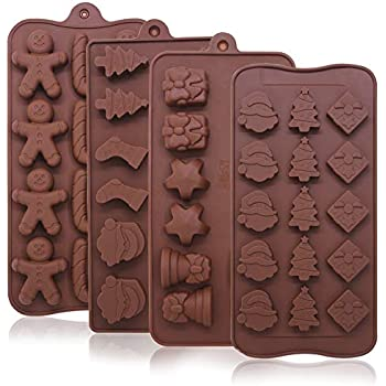 6 Cell Snowman Christmas Stocking Chocolate Silicone Cake Lolly Mould Candy Mold