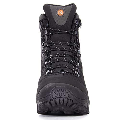2ce35267831 XPETI Men's Thermator Mid-Rise Waterproof Hiking Boot Trekking Trail Casual  Work Outdoor Boots Black 12