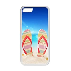 MMZ DIY PHONE CASEFunny Flip Flops,Slippers art,Sandals Apple ipod touch 5 Plastic and TPU (Laser Technology) Case Cover