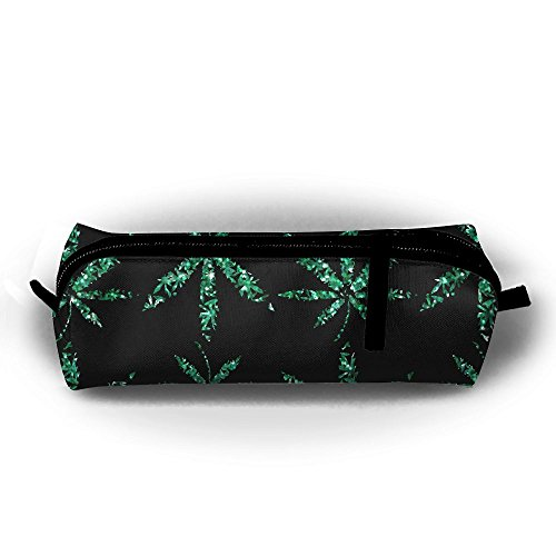 Marijuana Weed Blunt And Cannabis Smoker Student Pen Pencil Case Pen Bag Durable Students Stationery With Zipper