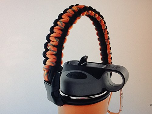 Hydro Flask Paracord Handle Holder 20Oz 32Oz 40Oz   64Oz For Hydro Flask Nalgene Camelbak For  1 Wide Mouth Water Bottle Carrier Strap Cord With Safety Ring  Metal Carabiner  A Prime Best Gift Ideas
