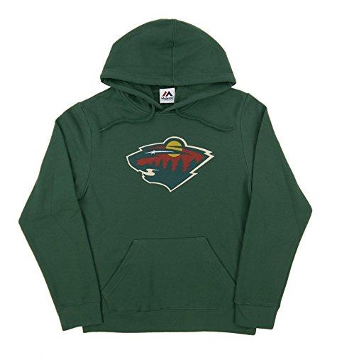 fan products of NHL Men's Minnesota Wild Heat Seal Long Sleeve Hooded Fleece Pullover (Dark Green, Medium)