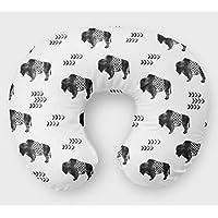 Buffalo Nursing Pillow Slipcover Bison Nursery Baby Gift w/ 100% NonToxic USA Cotton/Minky