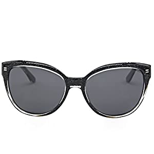 Hourvun Aviator Ladies Sunglasses Black Pearly Fashion Trend Sunglasses for Women