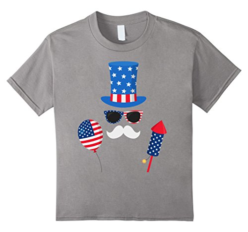 unisex-child Uncle Sam Costume Patriotic Balloon - 4th of July T-Shirt 4 (Young Uncle Sam Childrens Costumes)