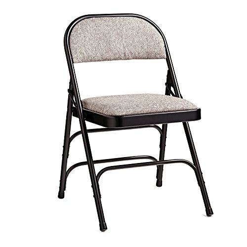(Samsonite Furniture 2900 Series Fabric Padded Chair Black Neutral)
