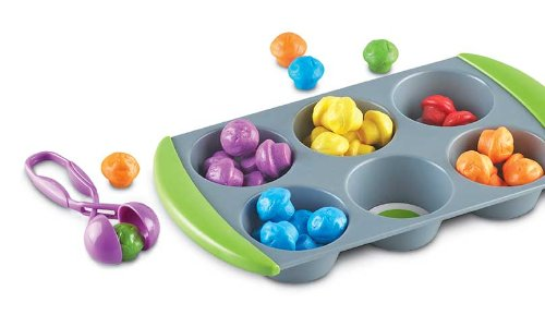 4140hthphKL - Learning Resources Mini Muffin Match Up Counting Toy Set, 77 Pieces