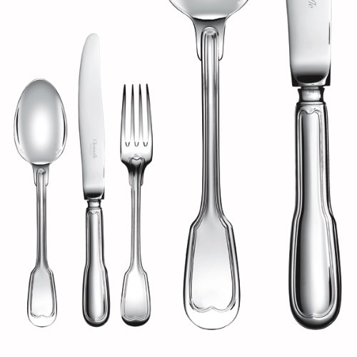 Christofle Silver Plated Chinon Place Soup Spoon - Spoons Place Plated Soup