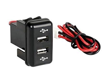 1 x empotrable salida Dual USB cargador 12/24 V camión ...