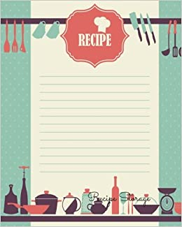 Recipe Storage Book Journal Notebook Recipe Keeper Organizer To - Writing a cookbook template