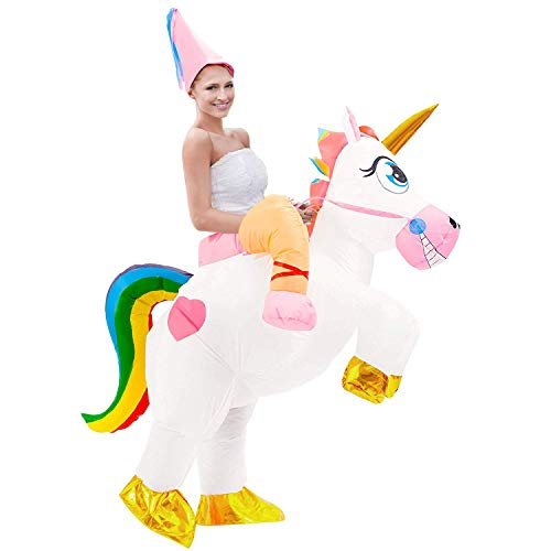 Inflatable Unicorn Costume Adult Blow Up Costume Party Cosplay Costumes Fancy Dress Halloween Costumes for Women Men -