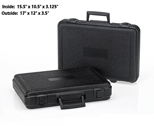 HUNSAKER USA: Hard Case Universal Storage Box (Inside Dims: 15.5'' x 10.5'' x 3.125'' - Black)