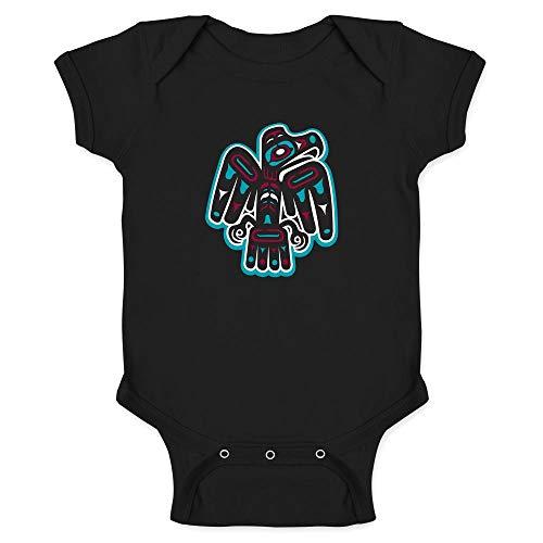Native American Thunderbird Eagle Totem Symbol Art Black 12M Infant ()