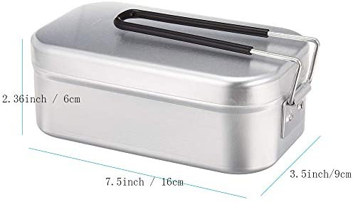 GNSDA Lunch Box Aluminum, Camping Supplies Kitchenware Food Safety Test - Lunch Box Outdoor Cutlery Set Self-Made Lunch Box, Portable Tableware Wild Picnic Tableware