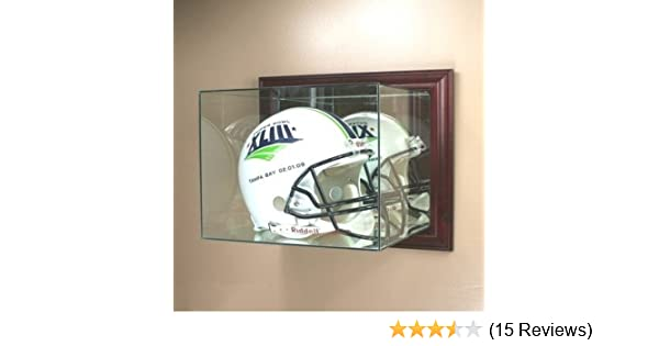 Amazoncom Perfect Cases Wall Mounted Glass Football Helmet