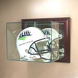 Amazon Com Wall Mounted Glass Football Helmet Display