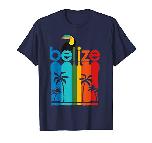 Belize Travel Poster T-Shirt Travel Cruise Retro 70s 80s -
