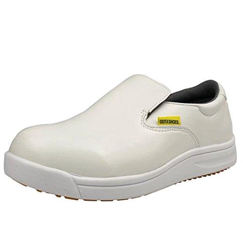 DDTX Professional Slip and Oil Resistant Men's Slip-On Work Shoes White