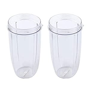 ESYNIC Cup Replacement 2 x 32 OZ Colossal Big Cup for Nutribullet Bullet Extractor 600 900 Models