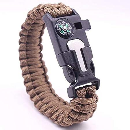 SUNXIN Generic 1 bracelets de survie paracorde avec sifflet grattoir et allumettes pour ext/érieur