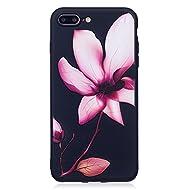Nancen Coque Apple iPhone 7 Plus (5,5 pouces), Ultra Mince Etui Housse Couverture Souple TPU Silicone Case Coque de protection , Anti-rayures et anti-poussière , Lotus