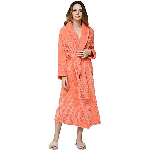 Entero L Tamaño Cuerpo Para Bata Suave De Gray Orange Y color Damas Mujer Con Baño OO0Uq