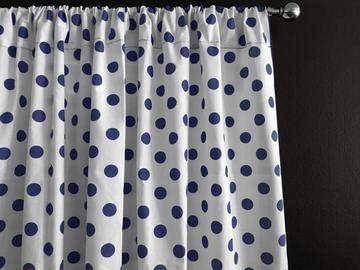 Zen Creative Designs Polka Dots on White Cotton Curtain Panel Perfect