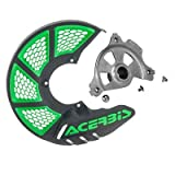 Acerbis X-Brake Vented Front Disc Cover with Mounting Kit Black/Green for Kawasaki KX250F 2006-2018