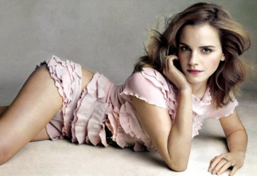 Emma Watson Poster Pink Frills