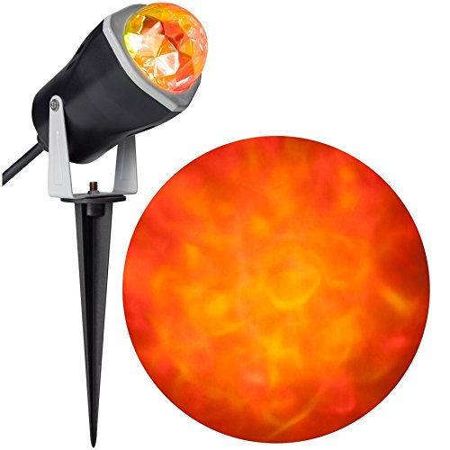 Gemmy 966237 LED Outdoor Fire and Ice Lightshow Orange
