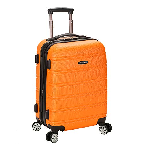 Rockland Luggage Melbourne 20 Inch Expandable Abs Carry On Luggage, Orange, One Size ()